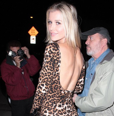 Joanna Krupa steps out for dinner in animal print number