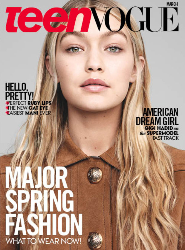 Gigi Hadid Scores Two \'Teen Vogue\' Covers