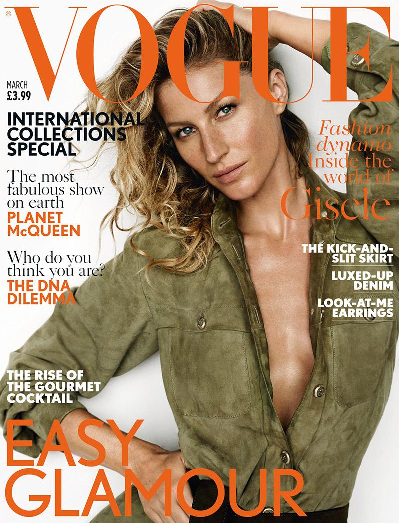 Gisele Bundchen Covers March Vogue