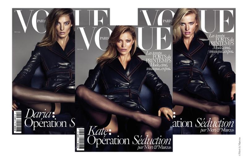 Kate, Daria & Lara Raise The Temperature For Vogue Paris March 2015 Covers