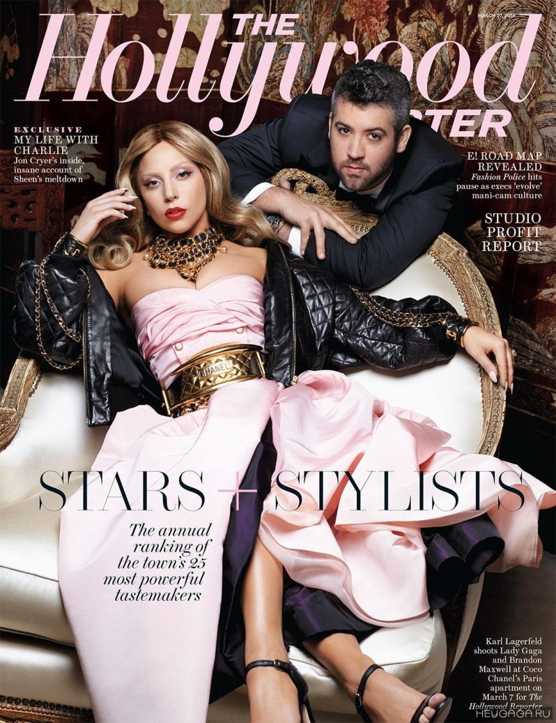 Karl Lagerfeld Shoots Hollywood Reporter Cover