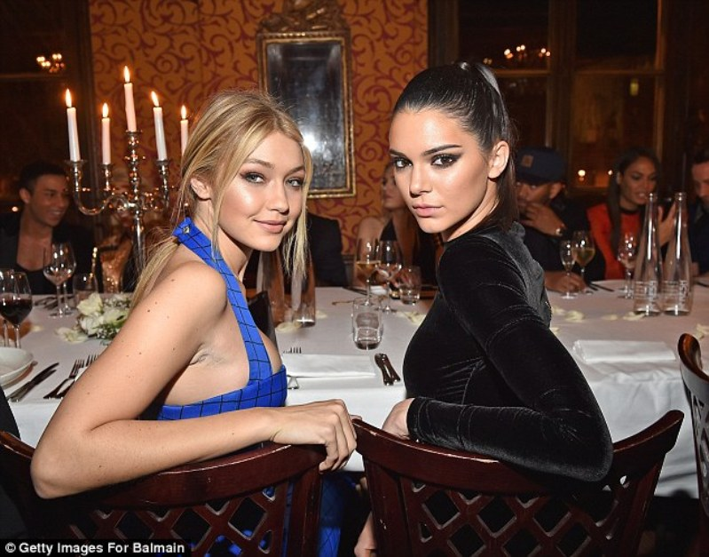 Kendall Jenner, Gigi Hadid Attend Balmain Model Filled After Party