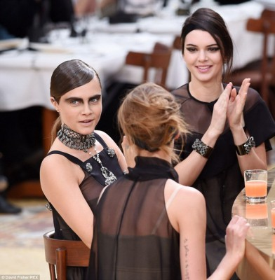 Kendall Jenner & Cara Delevingne steal the show at paris fashion week