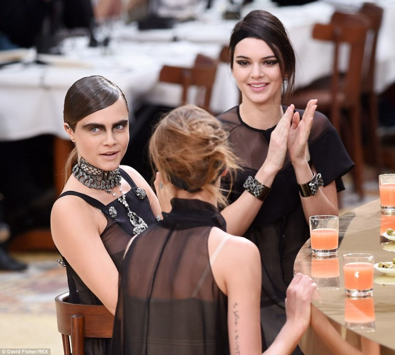 Kendall Jenner & Cara Delevingne steal the show at paris fashion week | News | The FMD
