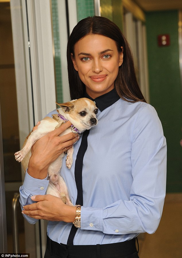 Irina Shayk dons stylish ensemble as she visits ASPCA Adoption Center