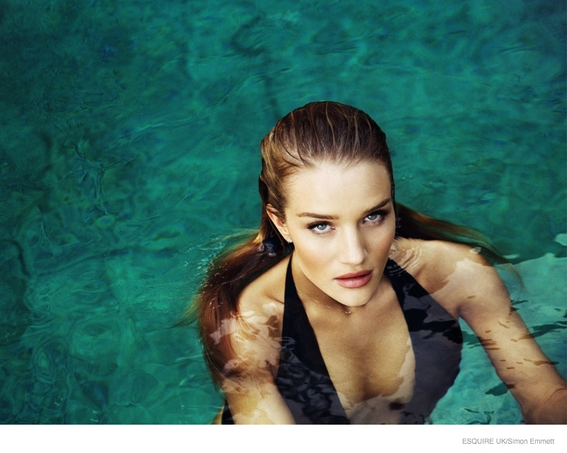 Rosie Huntington-Whiteley flaunts her curves in sizzling shoot for Esquire mag