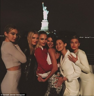 Kendall Jenner, Gigi Hadid, and Cara Delevingne Attend Lagerfeld\'s Epic Boat Party