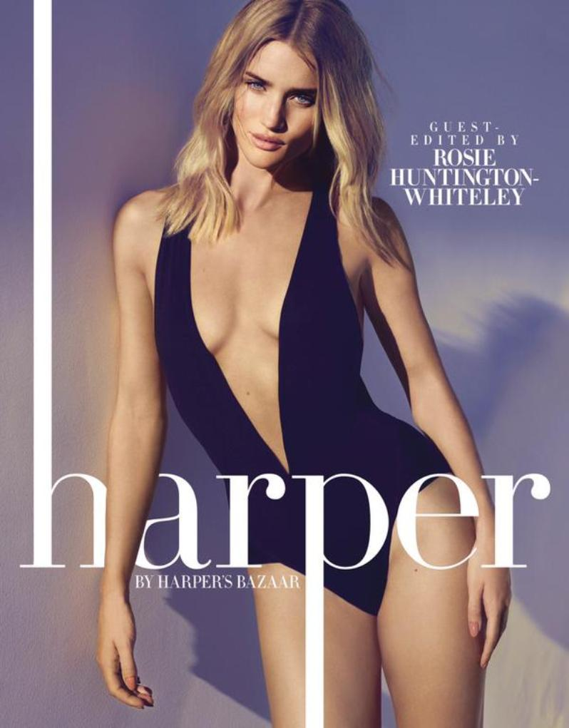 Rosie Huntington-Whiteley stuns in \'Harper\'s Bazaar\' may 2015 issue