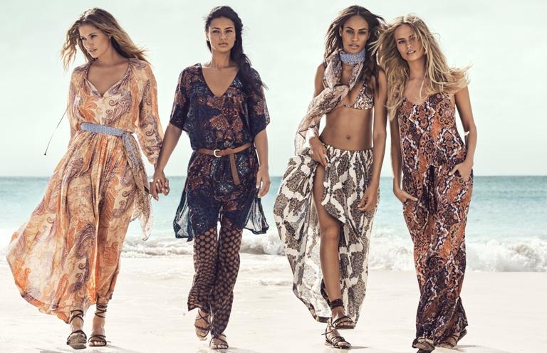 Adriana Lima, Joan Smalls, Doutzen Kroes & Natasha Poly Star in H&M�s Summer Campaign