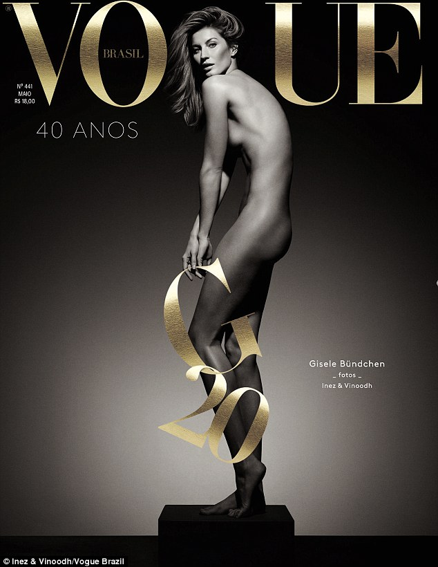 Gisele Bundchen bares it all for the cover of Vogue Brazil