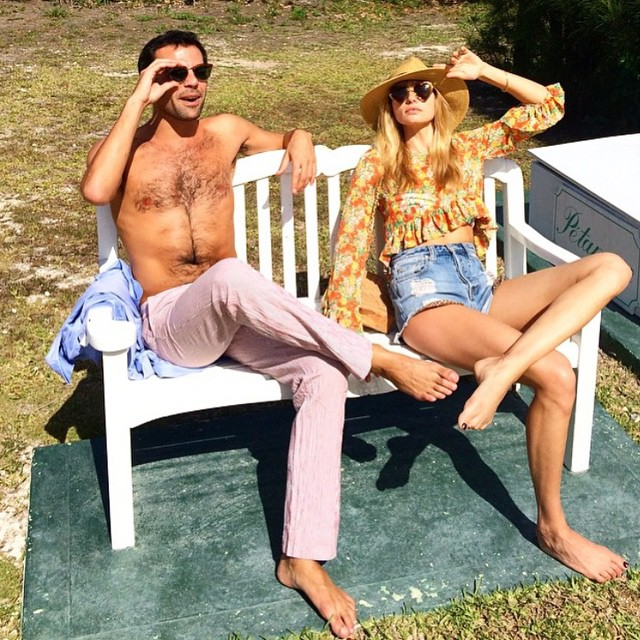 Jessica Hart holidays in sunny Bahamas