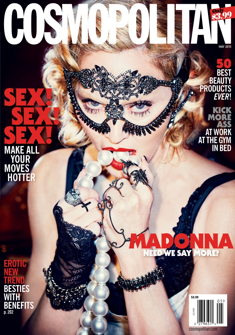 Cosmopolitan Features Madonna for 50th Anniversary Issue