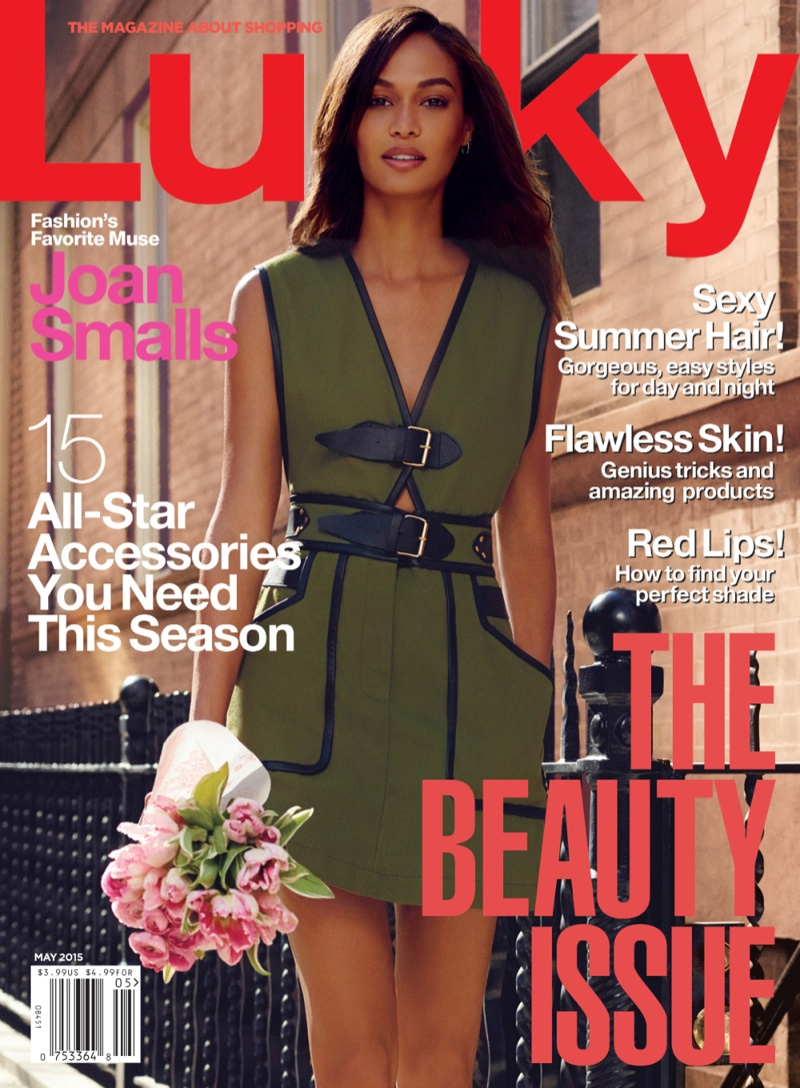 Joan Smalls Fronts Lucky Mag