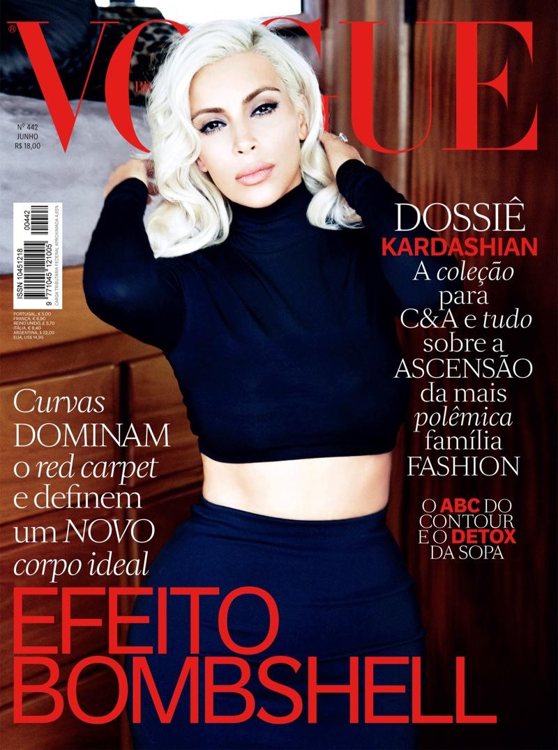 Kim Kardashian Channels Marilyn Monroe for \'Vogue\' Brazil