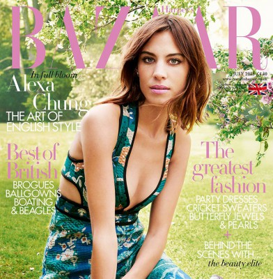 Alexa Chung Fronts July Harper\'s Bazaar UK