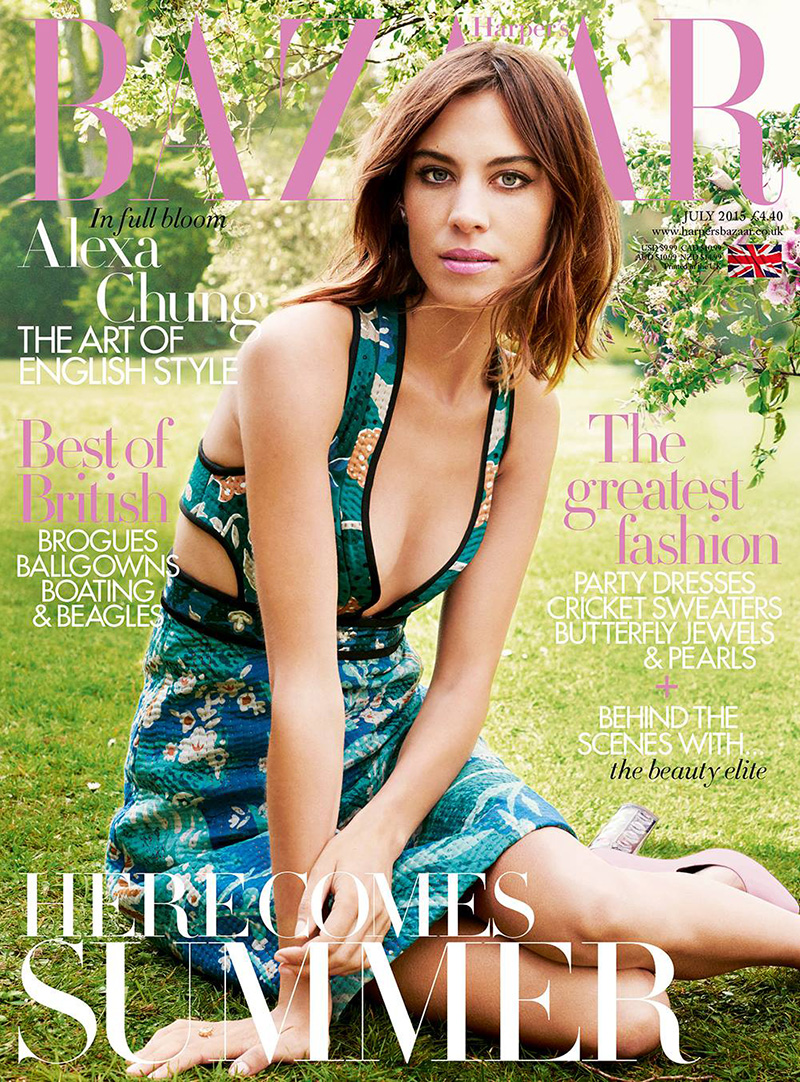 Alexa Chung Fronts July Harper\'s Bazaar UK