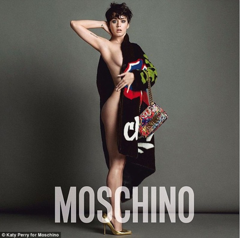 Katy Perry Strips Down In Newest Moschino Ads
