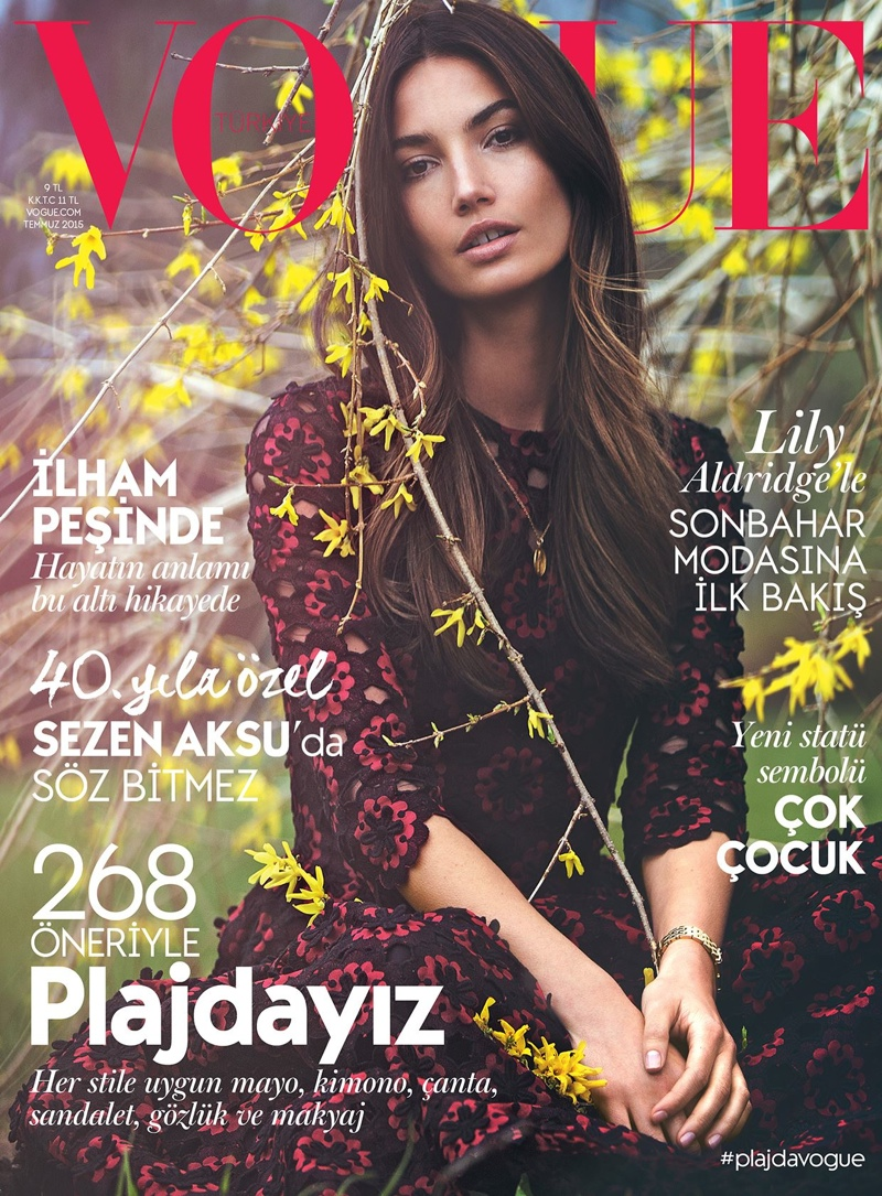 Lily Aldridge Goes Bohemian on Vogue Turkey July 2015 Cover