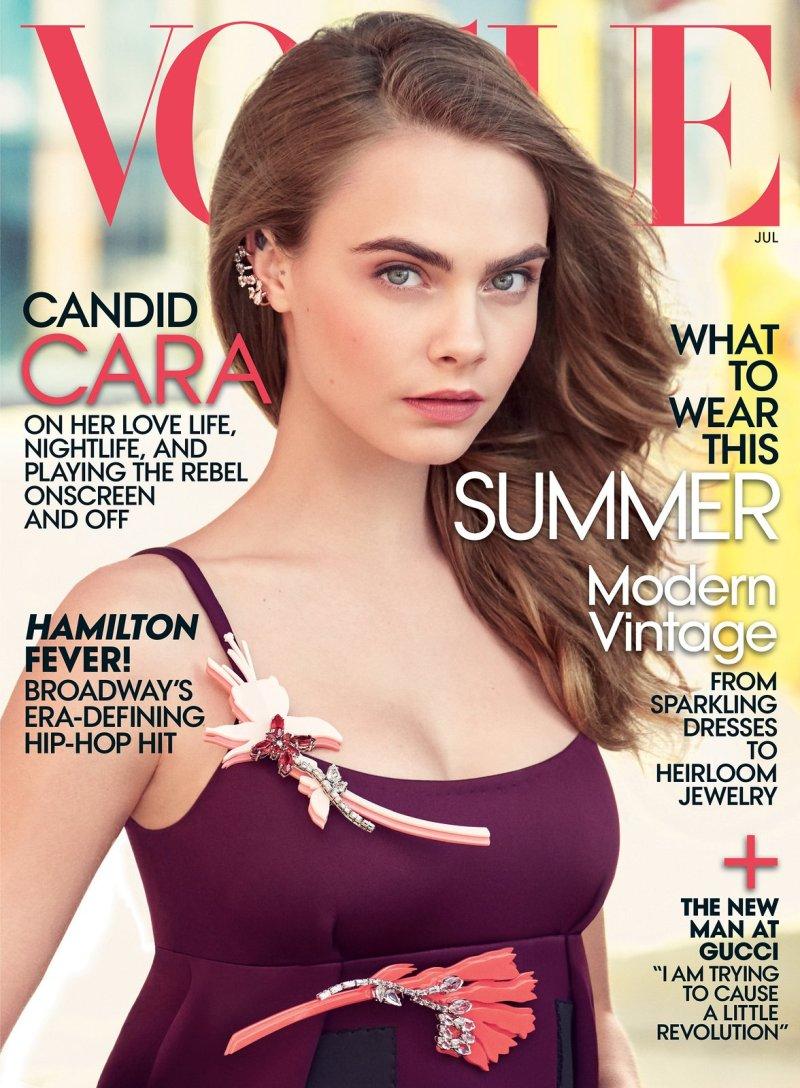 Cara Delevingne Lands First Solo Vogue Cover