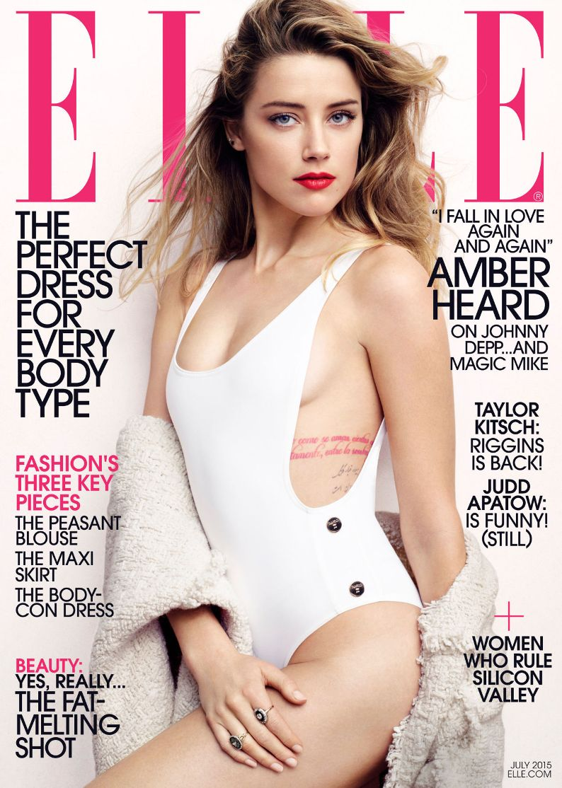 Amber Heard Is Elle Magazine\'s July Cover Star