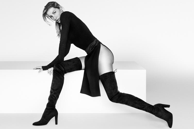 Gisele Bundchen Flaunts Her Legs In New Stuart Weitzman Campaign