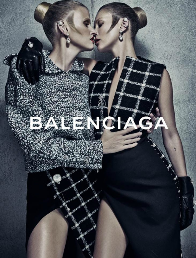 Kate Moss And Lara Stone Get Close In New Balenciaga Campaign