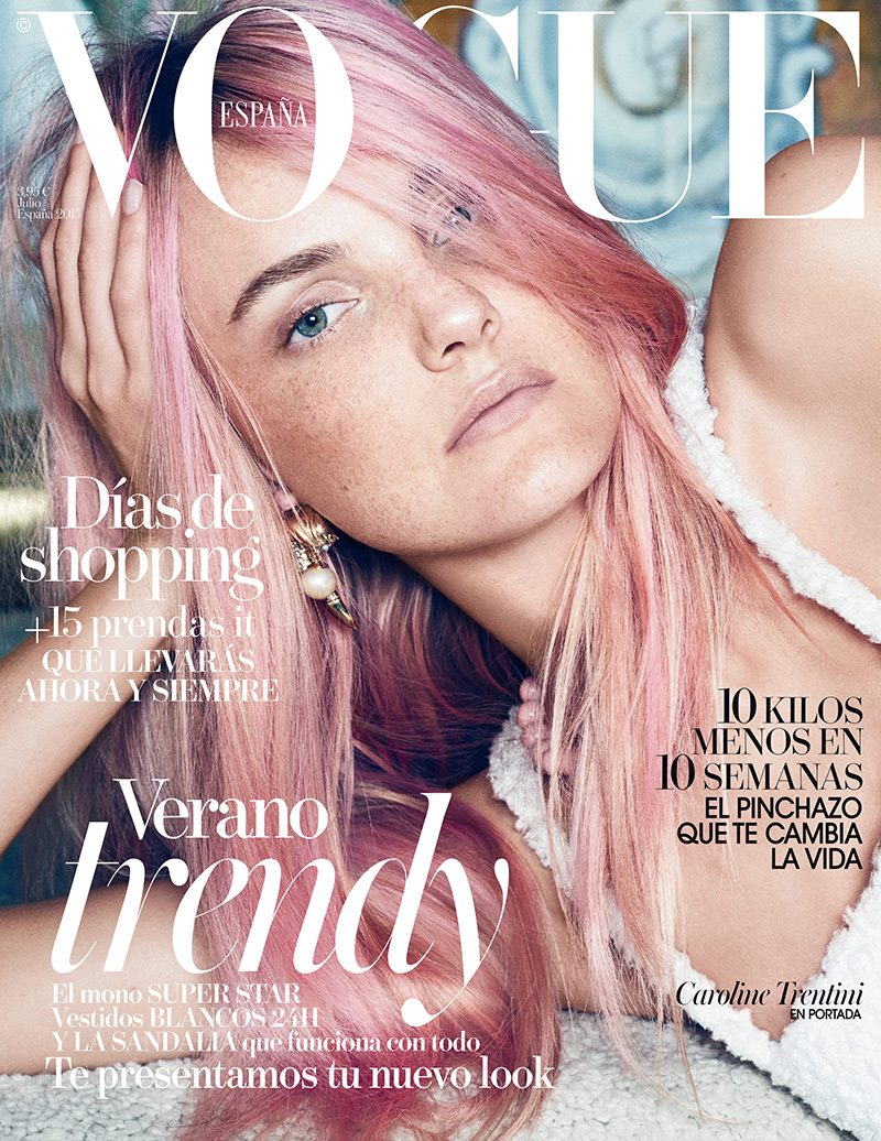 Caroline Trentini Goes Pink On Vogue Spain Cover