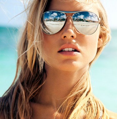 Martha Hunt Is A Vision On Ocean Drive's Cover
