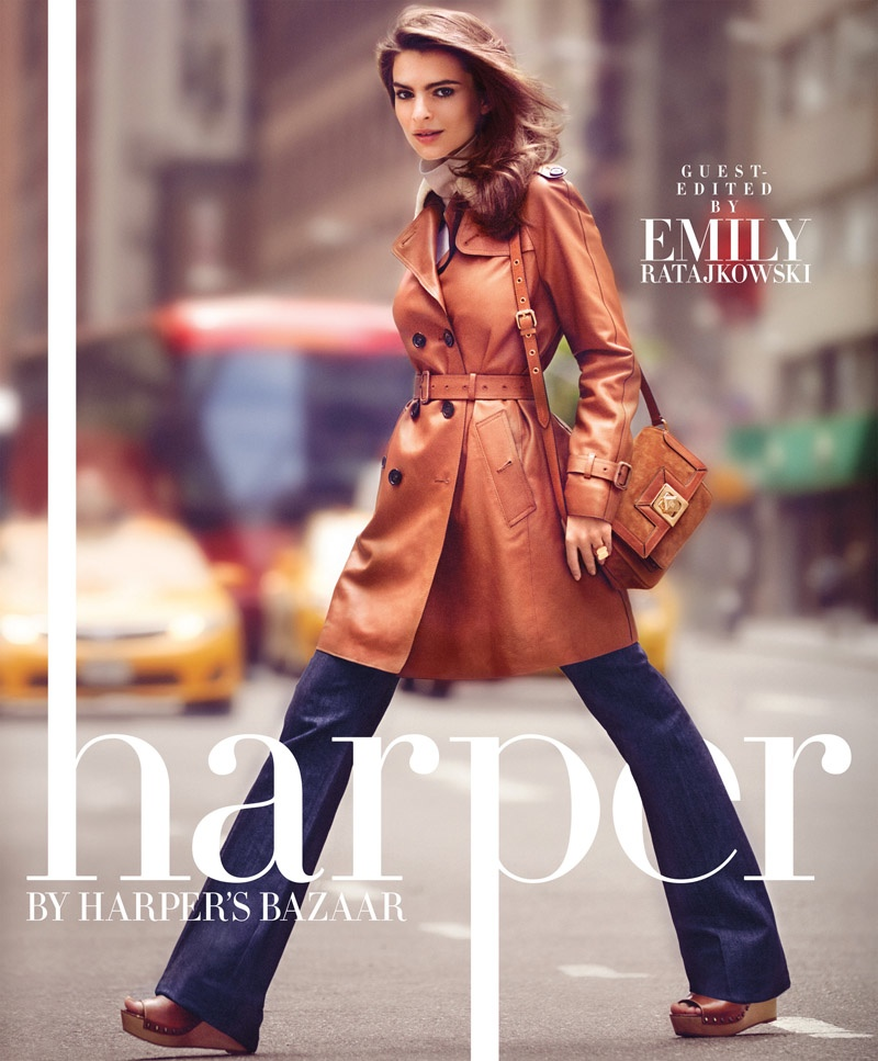 Emily Ratajkowski Is Gorgeous For Harper By Harper's Bazaar Cover Story