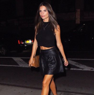 Emily Ratajkowski stuns in midriff and leg flaunting ensemble