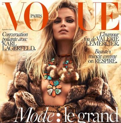 Natasha Poly Nails Vogue Paris & Vogue Russia September Issues