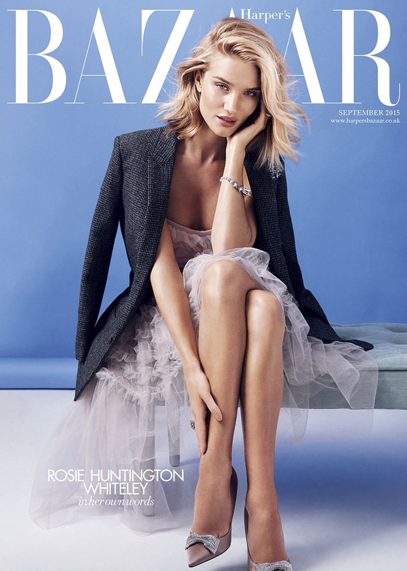 Rosie Huntington-Whiteley Is Cover Star Of Harper\'s Bazaar September Issue