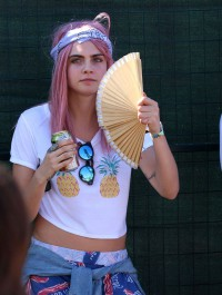 Cara Delevingne Debuts Candy-Colored Hair