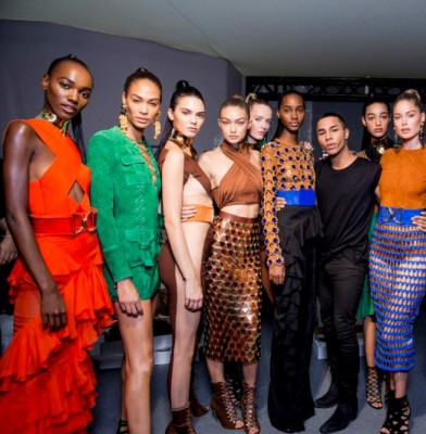Balmain SS16 Model Line Up Takes Paris Fashion Week By Storm