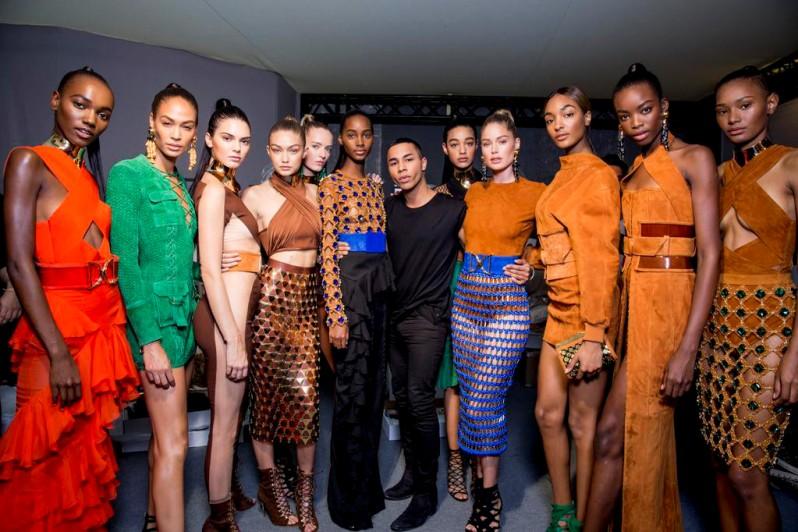 Balmain SS16 Model Line Up Takes Paris Fashion Week By Storm