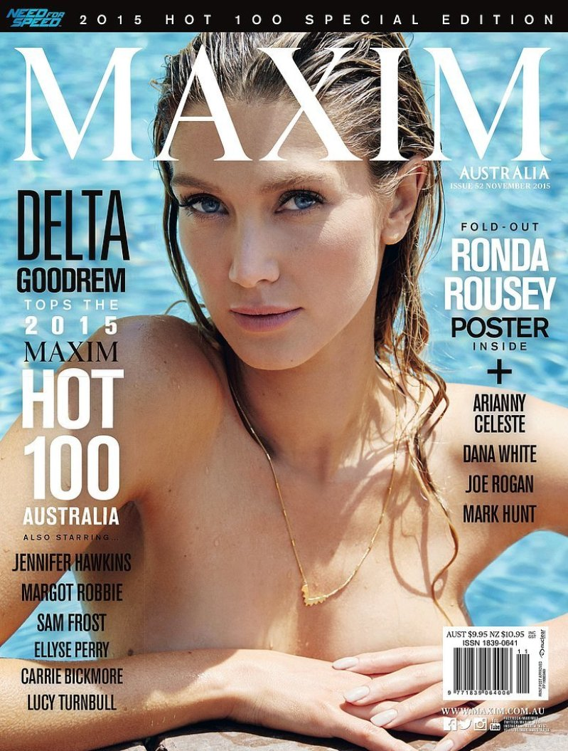 Delta Goodrem Goes Topless For Maxim Australia