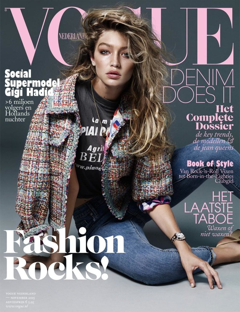 Gigi Hadid Goes Topless For Vogue Netherlands
