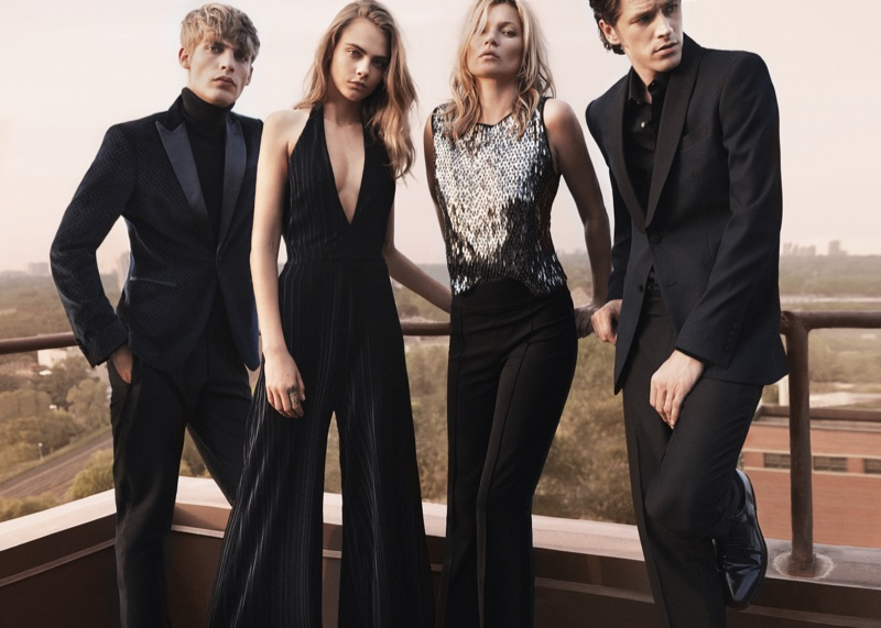 Kate Moss & Cara Delevingne Team Up For Mango\'s Evening Collection