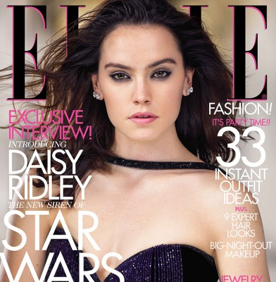 Star Wars Actress Daisy Ridley Is December Cover Star For Elle USA