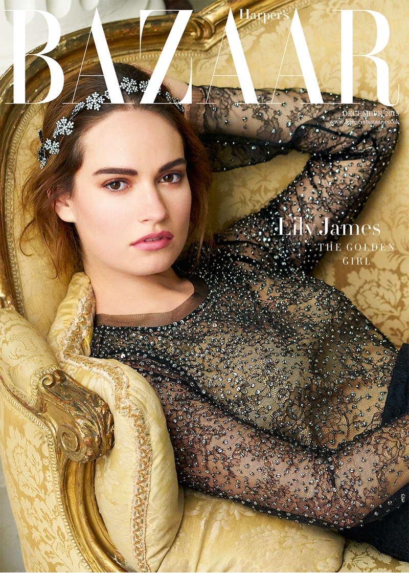 Lily James Is Harpers Bazaar\'s December Cover Star