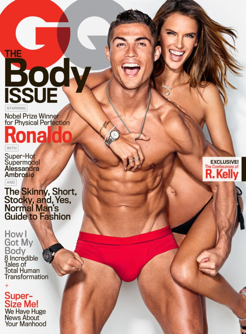 Alessandra Ambrosio and Cristiano Ronaldo Heat Up GQ\'s Body Issue