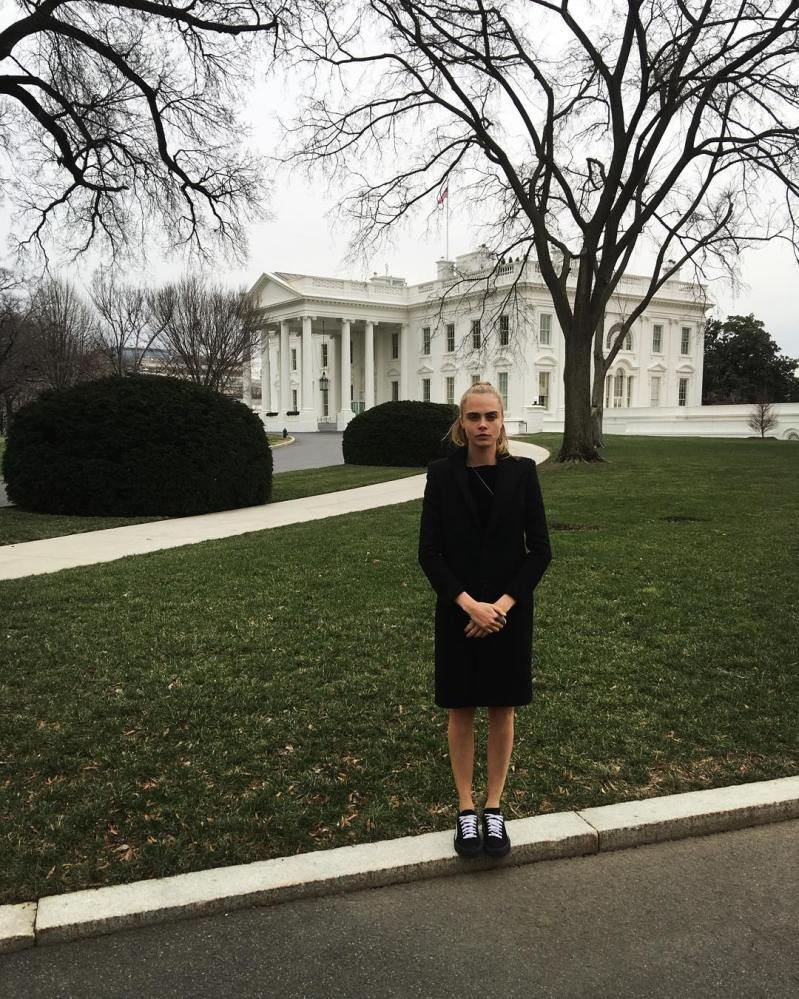 Cara Delevingne visits The White House