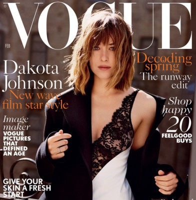 Dakota Johnson Fronts February Issue Of British Vogue