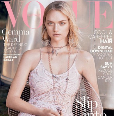 Gemma Ward Covers Vogue Australia\'s January 2016 Issue