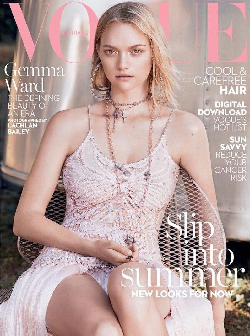 Gemma Ward Covers Vogue Australia\'s January 2016 Issue