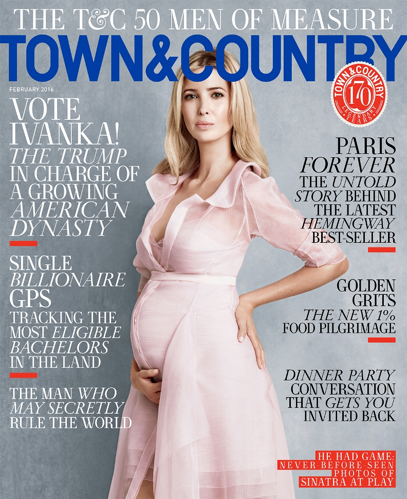 Ivanka Trump Stuns On The Cover Of Town & Country\'s February Issue