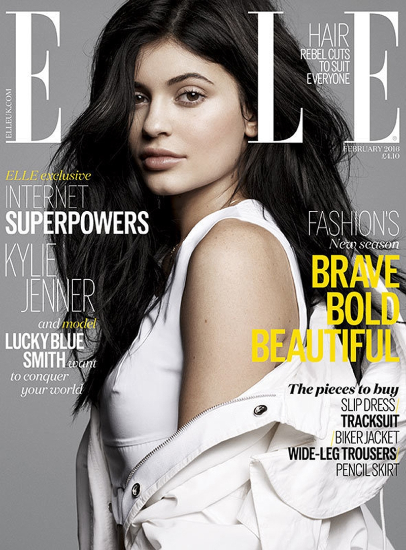 Kylie Jenner fronts Elle UK\'s February 2016 issue