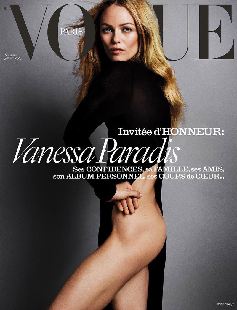 Vanessa Paradis Goes Half-Naked On Vogue Paris Cover
