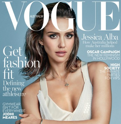 Jessica Alba graces the cover of VOGUE Australia