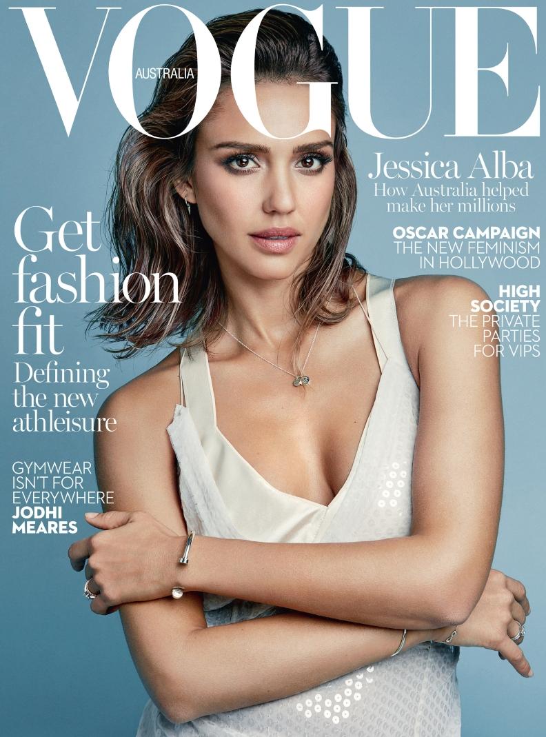 Jessica Alba graces the cover of VOGUE Australia